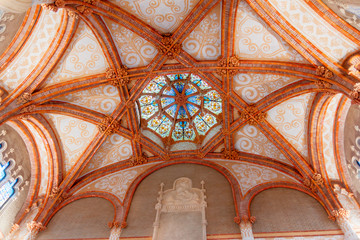 Ceiling details at Hospital de Sant Pau, Barcelona