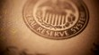 Federal reserve sign on paper money