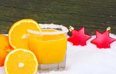 Orangensaft, frisch gepresst
