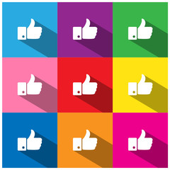 """""""THUMBS UP"""" Buttons (like comment recommend social media icons)"""