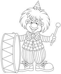 clown drumming