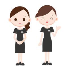美容部員の女性 2人