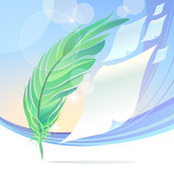 Abstract Feather-Art Background