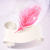 Abstract Feather Pattern Background