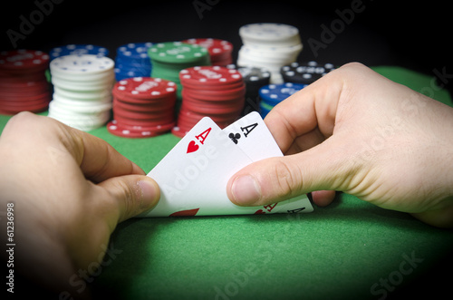 Plakat HANDS with pocket aces