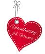 Valentinstag Herz-Anhänger - Vektor