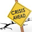 Crisis ahead sign board