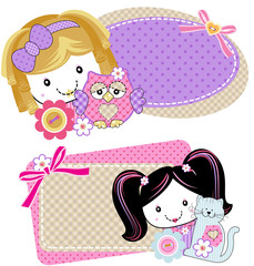 Bonecas patchwork Tags
