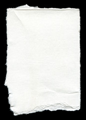 Torn blank paper with copy-space