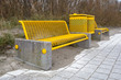 Yellow Beach Bench