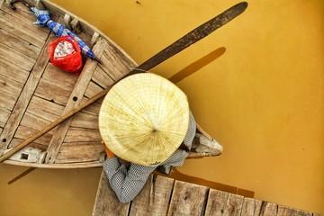 Female boatman in Hoi An