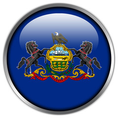 Pennsylvania State Flag glossy button