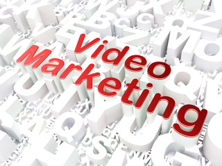 Finance concept: Video Marketing on alphabet background