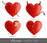 Hearts - vector set
