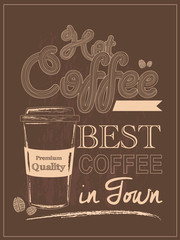 Retro Vintage Coffee Poster