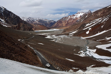 Mountain landscape at the Leh - Manali Highway, India