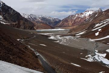 Manali - Leh highway in Jammu and Kashmir State, India