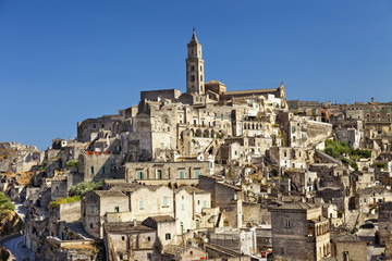 Ancient town of Matera, unesco world heritage in Italy
