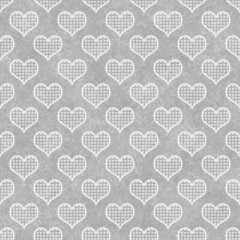Gray and White Polka Dot Hearts Pattern Repeat Background