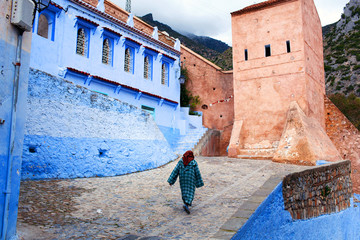 Beautiful medina of Chefchaouen city in Morocco, Africa
