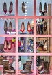 shoes in modern boutique