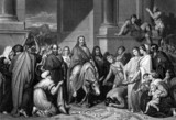 Fototapety Jesus Christ's entry into Jerusalem