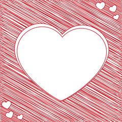 bigliettino cuore bianco