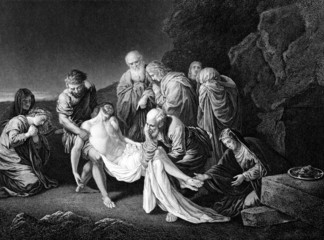 the entombment of Jesus Christ,