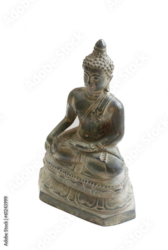 Buddha statue isolated  on white background