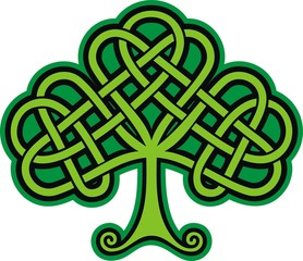 Shamrock. Celtic Tattoo
