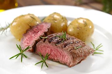 Beef fillet underdone