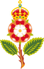 Tudor rose Royal badge of England