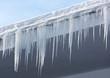 Leinwandbild Motiv Icicles and snow