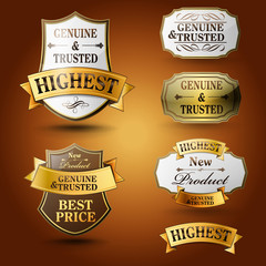 highest badges luxury gold and silver
