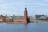 Stockholm City Hall, view from Sodermalm, Sweden