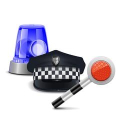 Vector Police Control Concept