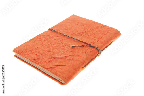Orange Bound Journal , Isolated On white Diary