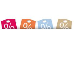 PProzentzeichen, Einkaufstaschen,Sommerfarben,frei