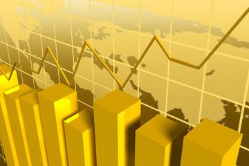 grafico debarras doradas