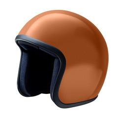 helmet, vintage style isolated on white background
