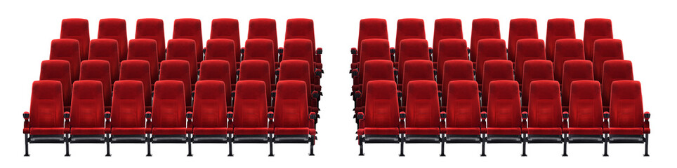 theater seat isolated on white background, movie