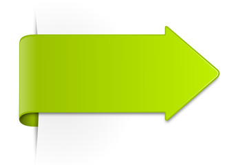 Etikett Pfeil grün