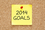 Goals 2014 Sticky Note
