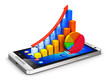 Mobile finance and analytics concept