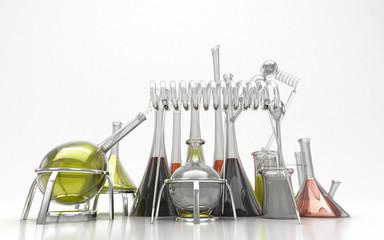 Alchimia, chimica, magia, alambicchi, stregoneria, provette