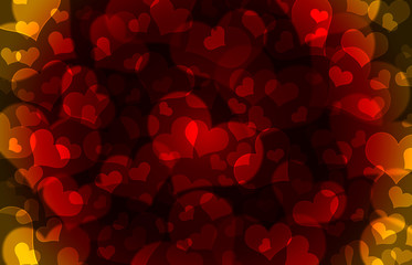 Shiny hearts bokeh light Valentine's day background