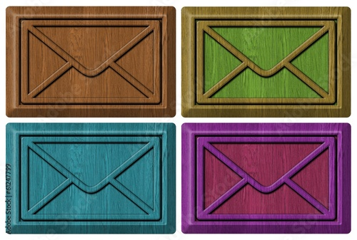 set of wooden envelopes