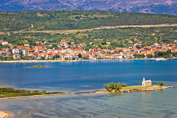 Coastal town of Posedarje, Croatia