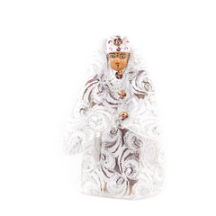 Doll typical Bedouin with elegant clothes on a white background