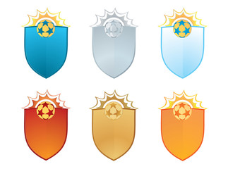 Vector emblems for sports clubs